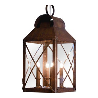American-Made Large Four-Light Brass Lantern