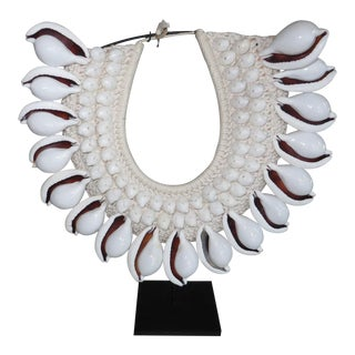 Indonesian Shell Necklace on Stand