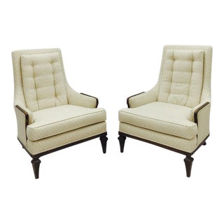 Vintage Mid-Century Danish Modern Arm Chairs - A Pair