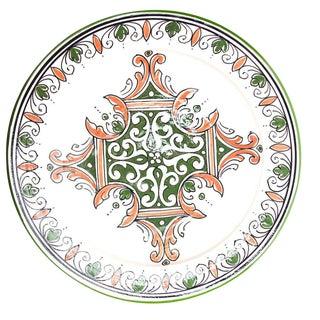 Green & Red Atlas Arabesque Plate