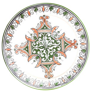 Green & Red Atlas Arabesque Plate