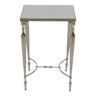 Mirror Top Aluminum Square Side Table