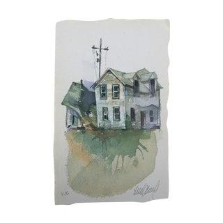 """Dakota Farm"" Original Watercolor Painting"