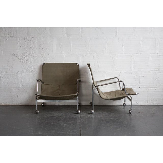Image of Bruno Mathsson 1960s Karin Rolling Chairs - A Pair