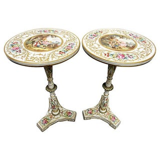 French Sevres Style Tables - A Pair