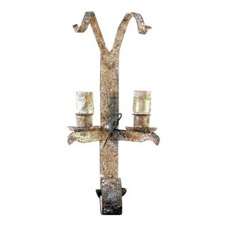 Antique Wrought Iron Wall Sconce