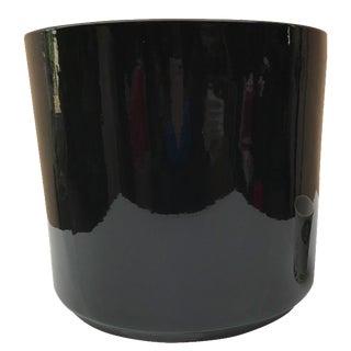 Gainey Black Ceramic Planter