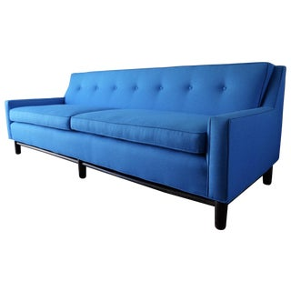 Blue Mid-Century Modern Sofa