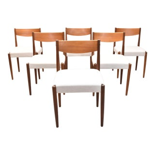 Poul Volther for Frem Rojle Danish Modern Teak Dining Chairs - Set of 6