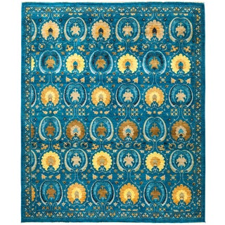 """Suzani Hand Knotted Area Rug - 8'3"""" X 9'9"""""""