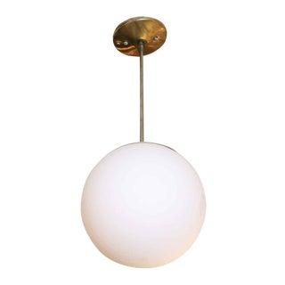 White Glass Ball Pendant Light
