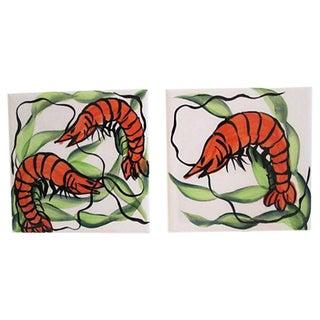 Spanish Shrimp Trivets- A Pair