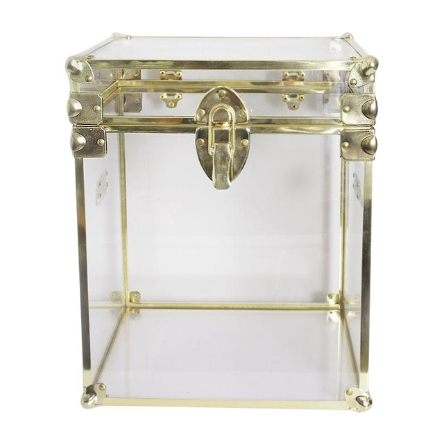 Image of Hand-Made Contemporary Lucite Cube
