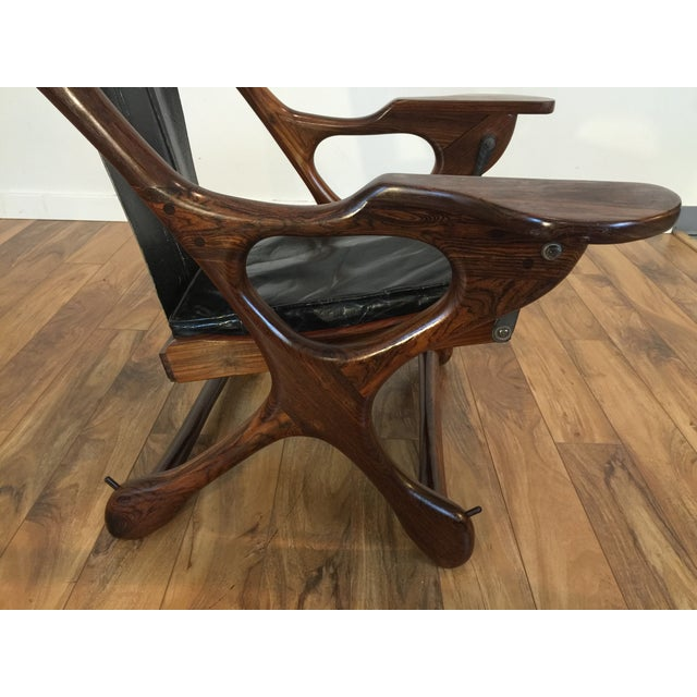 Don Shoemaker Studio Rosewood Swing Chair - Image 10 of 11