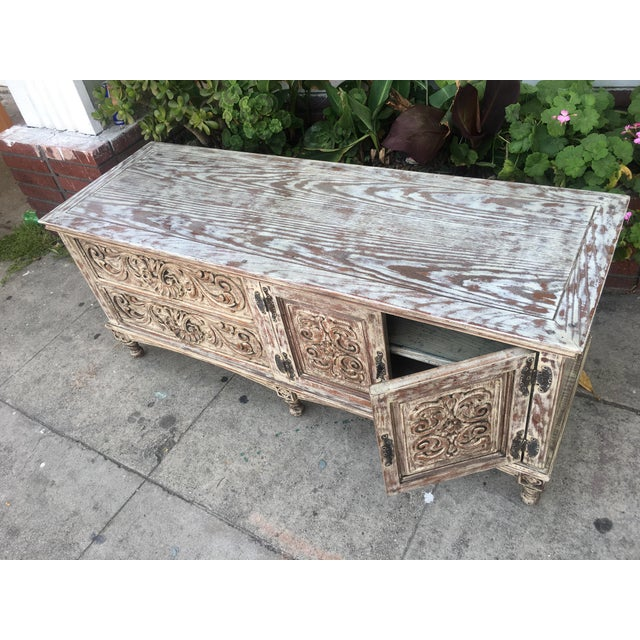 French Style Distressed Cabinet - Image 8 of 11