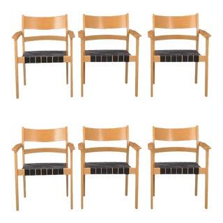 Danish GE881 Armchairs by Hans J. Wegner for Getama, 1988 - Set of 6