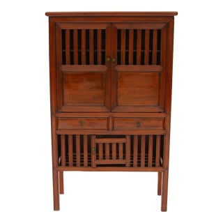 Chinese Red Cypress Kitchen Cabinet