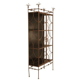 French Metal Bookcase