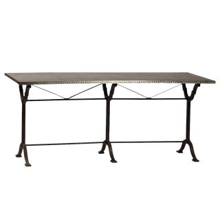 Zinc & Cast Iron Table