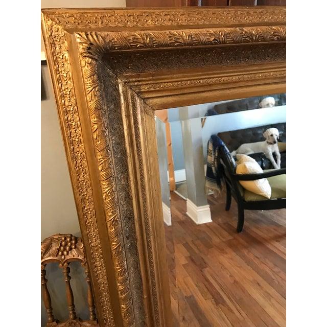 Oversized Beveled Mirror in Custom Gilt Frame - Image 4 of 9