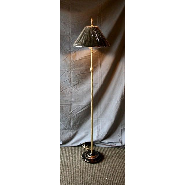 Modern Brass Floor Lamp - Image 4 of 10