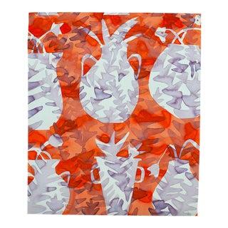 """Kate Roebuck """"Spring Vases"""" Watercolor & Ink Painting"""