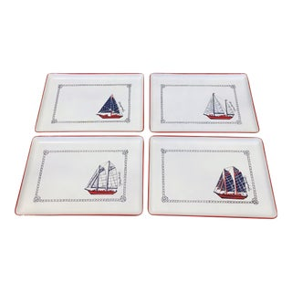 Georges Briard Nautical Cocktail Trays - Set of 4