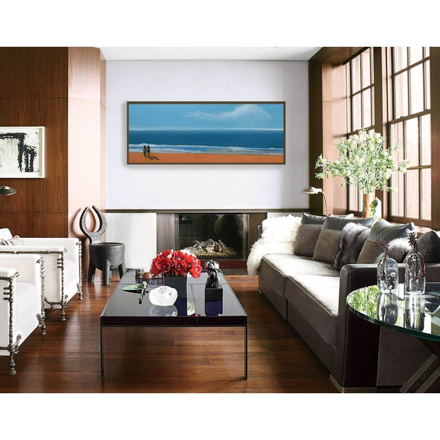 Small Sea With Couple Oil Painting - Image 6 of 10