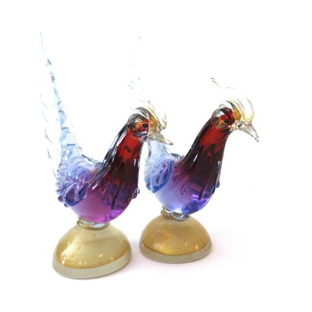Image of Murano Art Glass Birds - A Pair