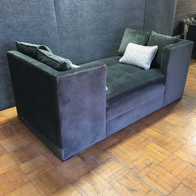 Modern Grey Daybed & Pillows - Image 3 of 8