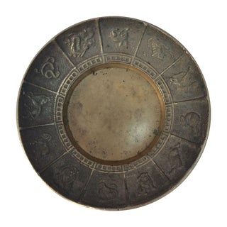 Vintage Chinese Zodiac Brass Dish