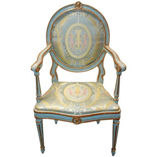 Italian Neo Classic Painted Chair
