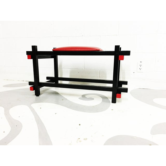 Bauhaus Style Entryway Bench - Image 4 of 6