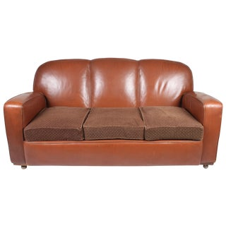 Mid-Century Leather Sofa
