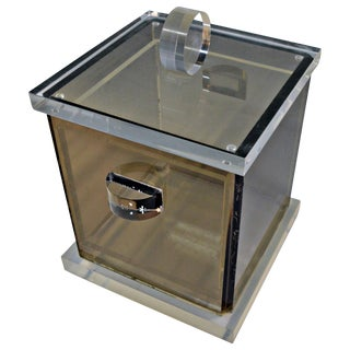Smoked Lucite Ice Bucket