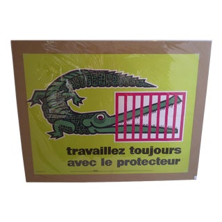 Vintage French Travelers Safety Poster