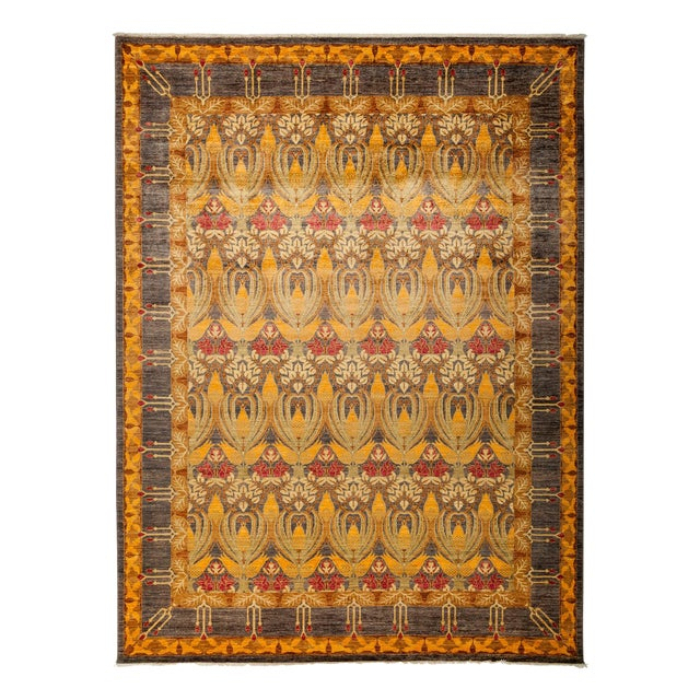 "Image of New Hand-Knotted Arts & Crafts Rug - 8'10"" X 11'9"""