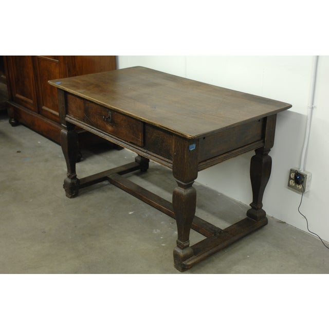 Antique wood desk with lock and hidden drawers chairish