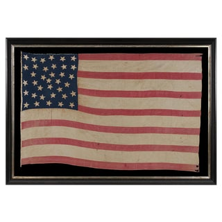36 STARS, A HOMEMADE FLAG OF THE CIVIL WAR ERA WITH AN EXCEPTIONAL RANDOM STAR PATTERN