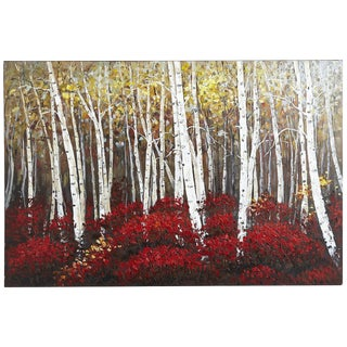 Aspens in Bloom Painting