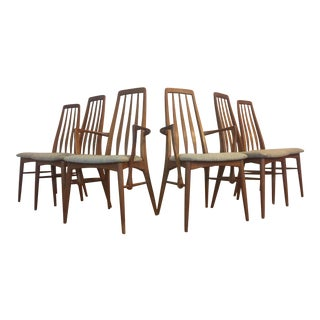 Niels Koefoed for Koefoeds Hornslet Eva Teak Dining Chairs - Set of 6
