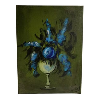 Blue Flowers in a Vase Painting