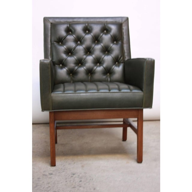 Pair of Milo Baughman for Thayer Coggin Walnut Armchairs - Image 7 of 9