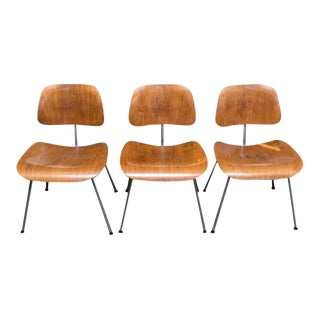 Set of Three Herman Miller Eames DCM Chairs