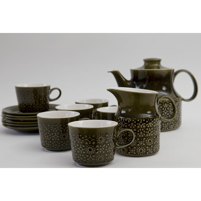 Image of Contemporary Shamrock Coffee Service for Six