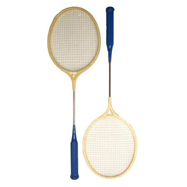Classic Spalding Comet Badminton Racquets, A Pair - Image 2 of 3