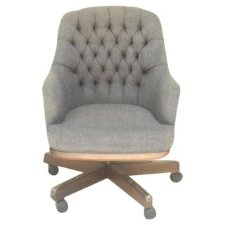 Chesterfield-Esque Tufted Wool Office Chair