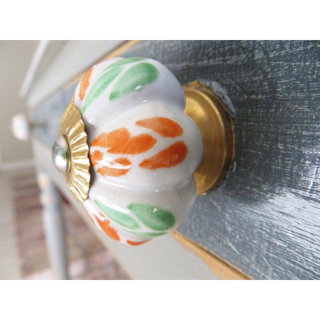 Mixed Leaf Ceramic Knobs- Set of 6 - Image 3 of 3