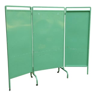 Large Industrial Metal Folding Screen Room Divider