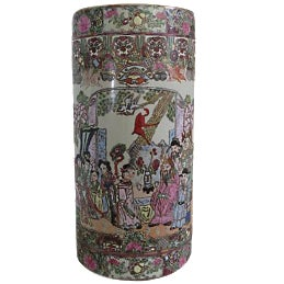 Chinoiserie Hand Painted Umbrella Stand